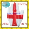 2011 hot sale plastic pvc air inflatable hands for promotion and advertising