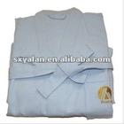 hotel 100%cotton blue waffle cotton bathrobes