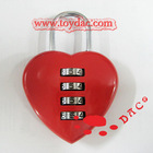 4 digits resettable heart code lock