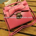 pink cute Zipper PU shoulder and tote Bags For Women