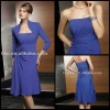 Free Shipping 2012 New Chiffon Shrapless Beaded with a Jacket Knee Length Mother of the Bride Dresses JYMD064