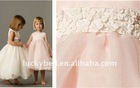 Hot sale New Spaghetti Strap Beautiful Colorful Flower girl dress