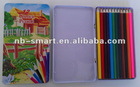 12c 7inch color pencil in tin box