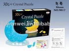 3D DIY moon stype crystal puzzle