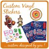 Customized WaterProof Colorful Printing Vinyl Sticker