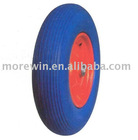 PU foam wheel, flat free wheel, PU solid wheel
