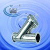 Sanitary stainless steel pipe filter