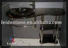 Nero Marquina pedestal sink