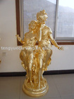 poly resin statue plated gold(RST1541)