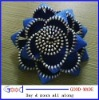flowers made from zippers.