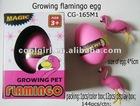 hot selling flamingo growing pet egg toy