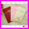 Elegant Embossing Wedding Card--Western Style Rose Desgin Wedding Invitation Card with Ribbon Decoration MIC