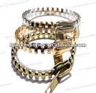 Hot sale metal zipper bracelet bangle