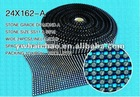 24 line Trimming stripping mesh netting ribbon 24*162 rhinestone mesh rhinestone net