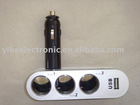3 Ways Car Cigarette Lighter Sockets With 2 USB