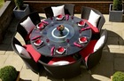 2013 New Style synthetic indoor rattan dining set