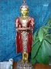 "Thai Buddha (Red & Golden) 31"" SPA Decor BY-S-1001"