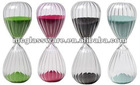 """Handmade 10"""" ribbed hour glass with color sand"""