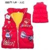 Children cute warm winter waistcoat/Vest stock