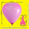 latex heart shape balloon for wedding ceremony