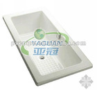 morden rectangular corner bathtub