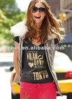 t shirt, lastest shirt designs for women,Burnout V-neck Tee