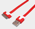 USB to 30-pin flat Data Cable for Apple iPhone 4s 4 iPad