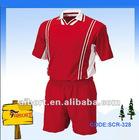 red full set soccer uniform (SCR-328)