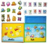 Cartoon Number Magnetic puzzle for kids education