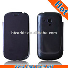 Flip Leather Front & Battery back Housing door for Samsung Galaxy S3 mini GT I8190