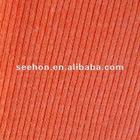 Apx. 140cm width 2X2 rib cotton spandex knit fabric