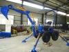 4 wheel diesel towable backhoe, mini excavator towable