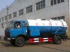 High pressure washing truck with fecal suction