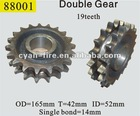 19 teeth double gear suitable for stubble machine