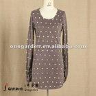 2012 Fashion Polka Dot Ladies Long Sleeve Stock Garments