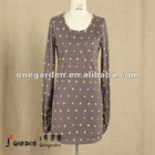2012 Fashion Polka Dot Ladies Long Sleeve Stock Garments