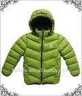 Children's comfortable high durable soft fell down jacket