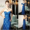 JM0172 Tulle ruffled top blue mother of the bride dress