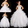 FG-053 Lovely ruffled tull skirt halter neckline ball gown kids wedding dresses on sale