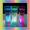 lighted up cups with multicolor led light 350ml press on off switch