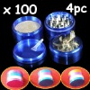 Metal Alloy Tobacco Herb Grinder Pocket 4 pc Parts 2.5""