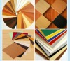 melamine board with various colors