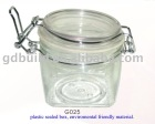 stainless steel and sealed plastic container