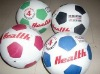 Colorful rubber soccer balls