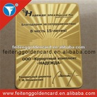 Metal etched high quality brass business card/full logo printing metal business cards