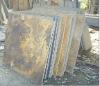 Rusty slate floor tiles