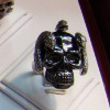 Hot sell finger ring fashion antique silver finger ring styles More models skull with snake ring JZ-094