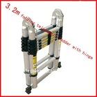 3.8m telescopic ladder with hinge