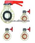 Plastic FRPP PPG Butterfly Valve DIN ANSI JIS CNS Standard