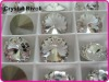 Color Clear/Crystal 10mm Rivoli Crystal Stones, Shiny Fancy Stones as SWAROV Crystal Stones, Chinese Top Quality Crystal Rivoli